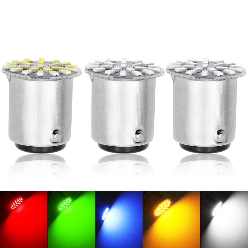 2pcs 1156 P21W BA15S R10W R5W G18 22 SMD 3014 LED Car Daytime Running Light Auto Tail Side Indicator Bulbs Parking Lamp DC 12V