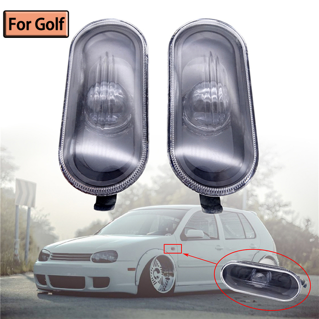 Car Styling Side Marker Turn Signal Light Lamp Repeater For VW Golf 4 MK4 1998 1999 2000 2001 2002 2003 2004 2005 2006