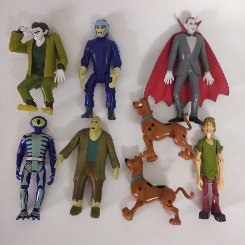 Original Scooby-Doo Hanna-Brabera the mystery machine action figure collectible Monster Daphne vampire dog toy gift for kids image