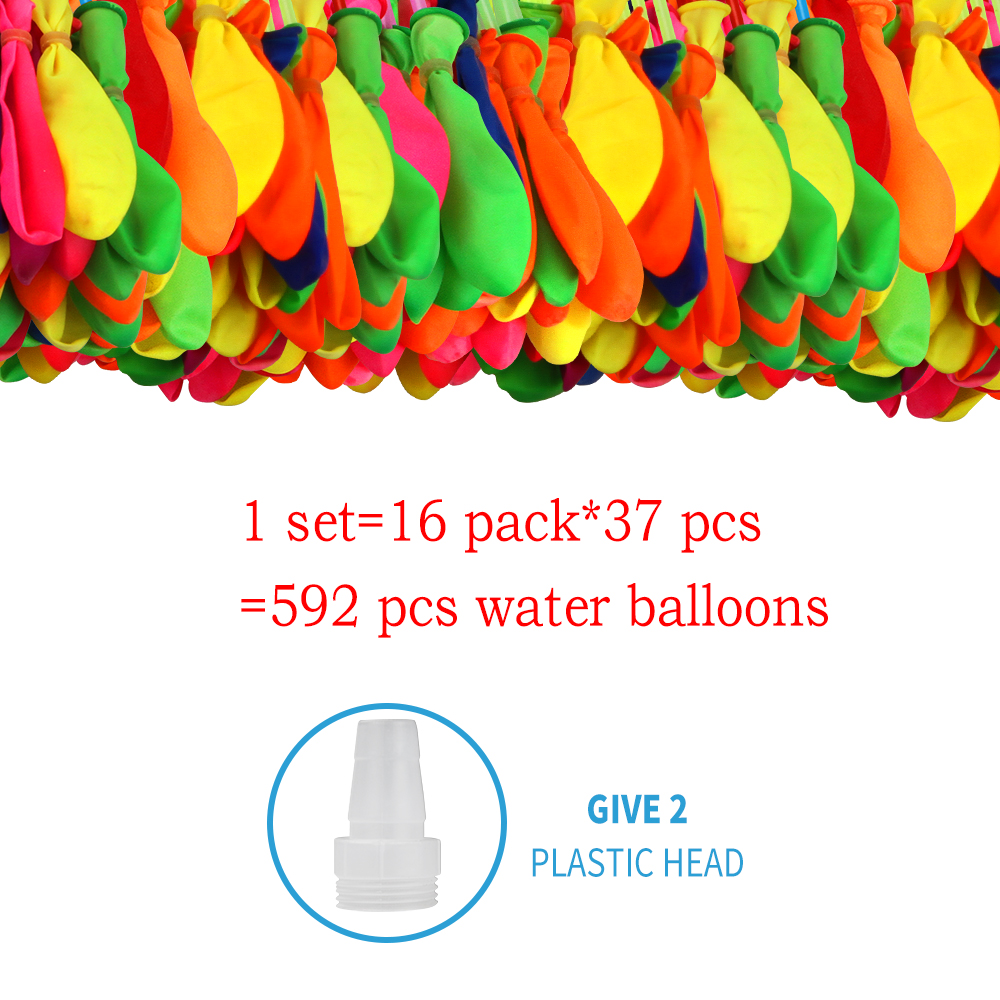 592 Pcs Water Balloons Bombs Kids Toys Fight Kick Summer Beach Party Games Toys For Children