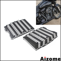 Motorcycle Rocker Box Top Covers For Harley Dyna Softail Fat Boy Fat Street Bob Touring Road King Twin Cam Models 1999 2017