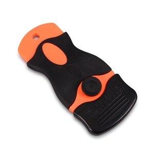 Image 5 - EHDIS 2 uds espátula con cuchilla con 100 Uds doble borde plástico hojas de tinte de ventanilla etiqueta escobilla de goma lámina de vinilo al carbono de herramienta