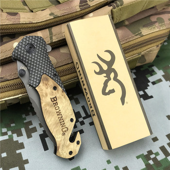 Browning Folding knife EDC Pocket knives Outdoor Portable High Hardness Hunting Camping tactical Multitool survival self defense 4