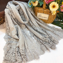 Autumn and winter new Korean wool lace blended ladies scarf high-end shopping mall fashion shawl plaid wool blended color blocking square scarf