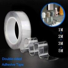 1/2/3/5m reutilizável dupla-face adesivo nano traceless fita impermeável removível fita fita fita fita dupla face tie gadget