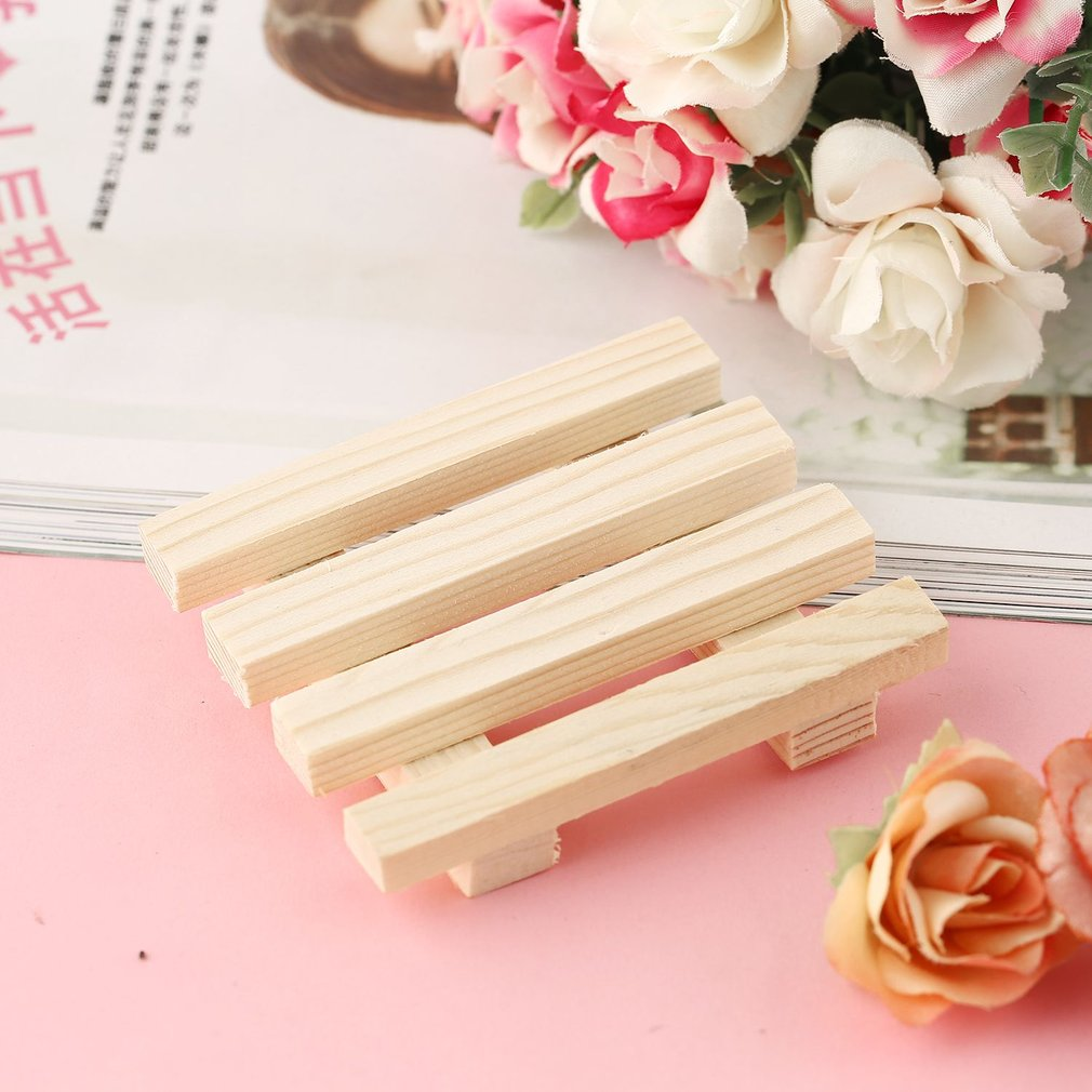 Newest Wooden Natural Bamboo Soap Dish Tray Holder Bath Shower Plate Bathroom Soap Rack Plate Box For Bath Shower Plate Bathroom