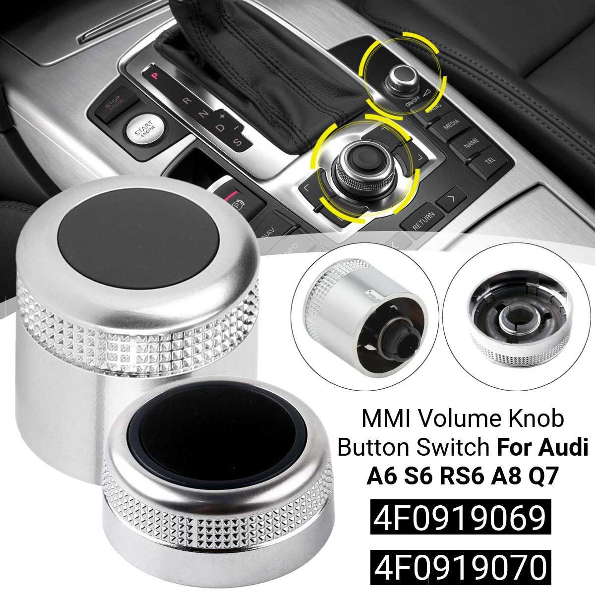 2 Cái/bộ Đa Phương Tiện MMI Tập Núm Xoay Nút Bấm Bao 4F0919070 4F0919069 Cho Xe Audi A6 Allroad S6 RS6 A8 Q7 Công Tắc & Rơ-le Xe Hơi    - AliExpress
