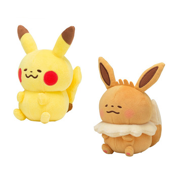 Kawaii Pikachu Eevee Plush doll Anime cartoon Small animals soft Stuffed toys Cute expression Beautiful gifts birthday present 30cm height limited edition eevee luma anime new plush doll for fans collection toy celebi