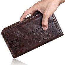 Cowhide Men Clutch Wallets FD01