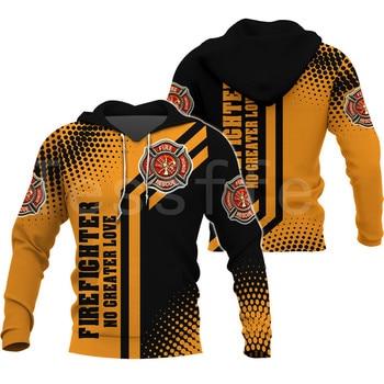 Tessffel Firefighters Suit Firemen superhero Harajuku Tracksuit NewFashion 3DPrint Zipper/Hoodies/Sweatshirt/Jacket/Men/Women s6 1