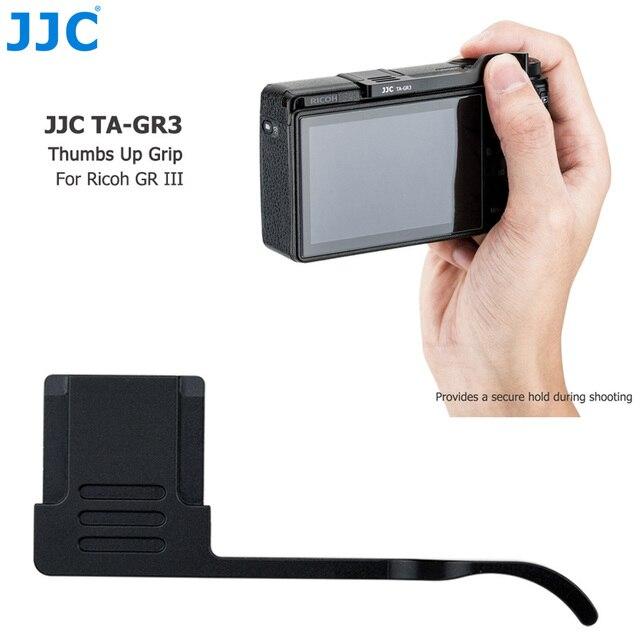 Jjc親指グリップ手リコーgr iii griii GR3用カメラアクセサリーアルミ合金ホットシューカバーホット靴キャップ
