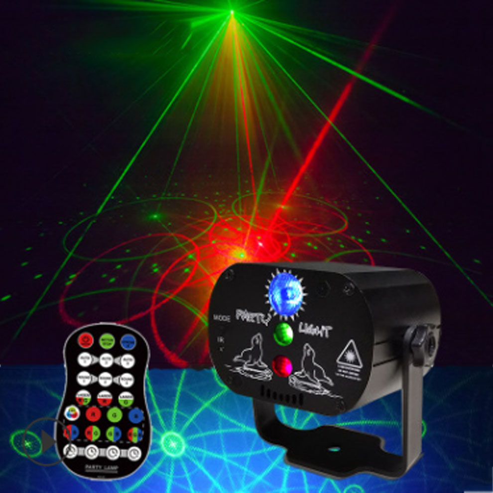 Remote Control USB Powered 60 in 1 Pattern Effect R G Star Laser Projector Stage Disco DJ Club Bar KTV Family Party Light Show in Stage Lighting Effect from Lights Lighting