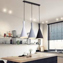 Modern Pendant Light Fixtures White Rope Hanging Lamp Lustre Kitchen Dining Room Living Room Decor Home Lighting Black Metal цена
