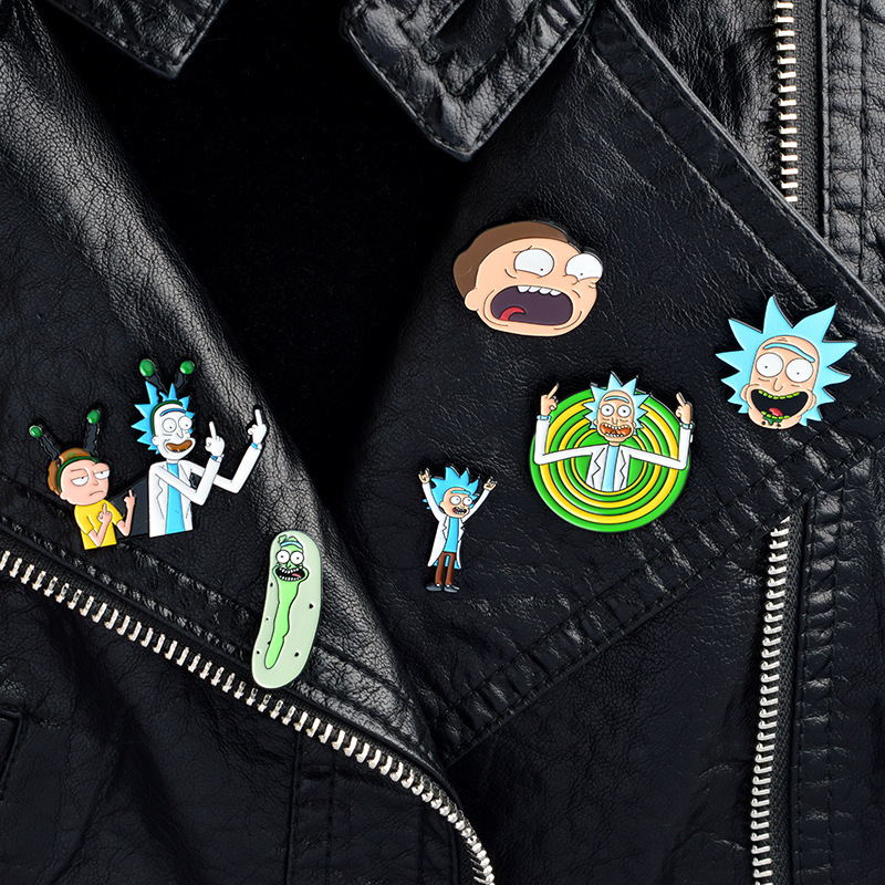 Anime Rick And Morty Cosplay Costume Prop Accessory Jewelry Accessories Pin Brooch Jewelry Accessories