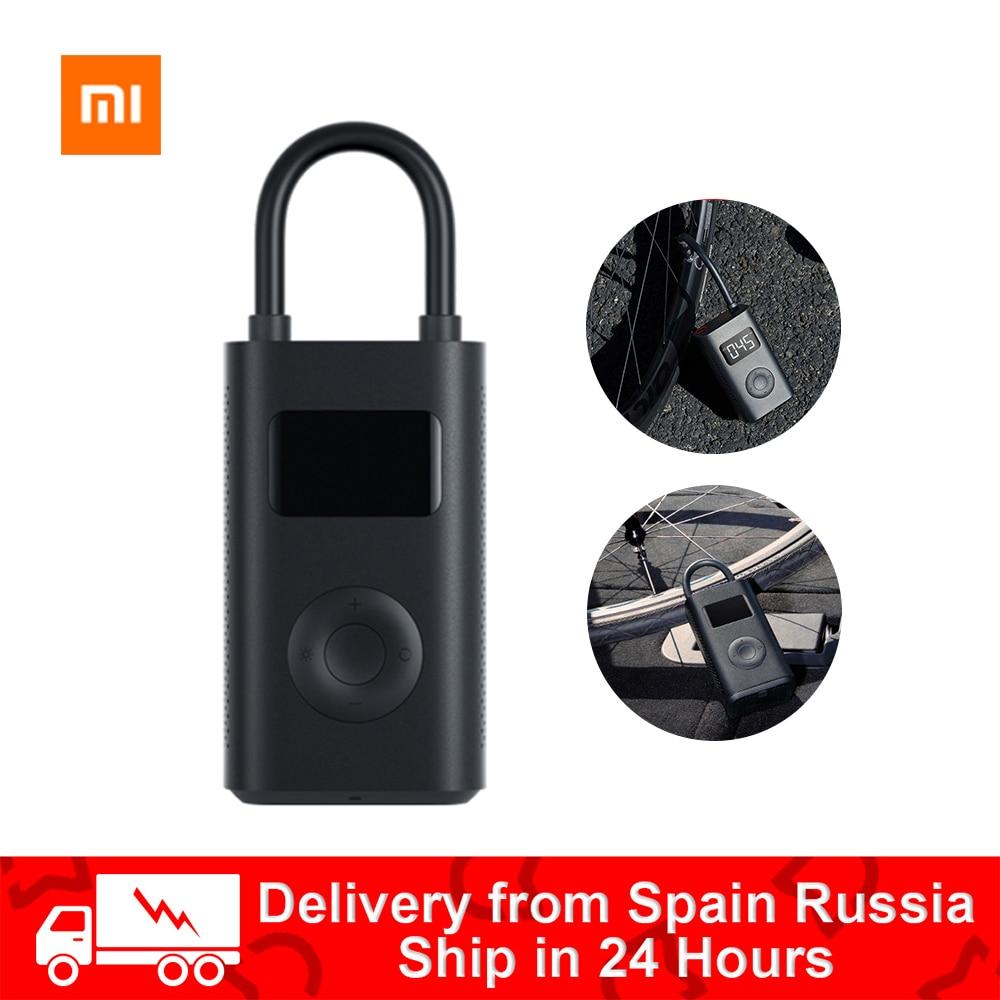 Xiaomi mijia inflator portátil mini led inteligente digital sensor de pressão dos pneus bomba elétrica para bicicleta motocicleta carro futebol