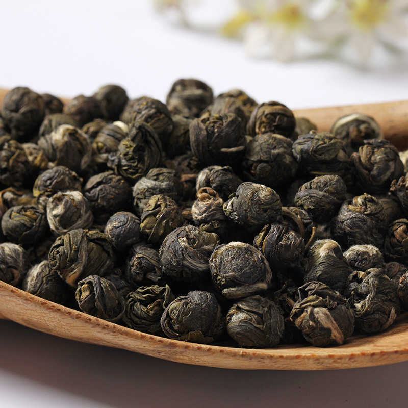 2020 Fresh Natural Organic Premium Chinese Jasmine Green Tea Jasmine Dragon Pearl Fragrance Slimming Flower Kung Fu Tea 1