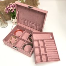 Jewelry Box with Portable Travel Jewelry Case Jewelry Display Organizer with Large Movable Mirror Versatile Storage Case