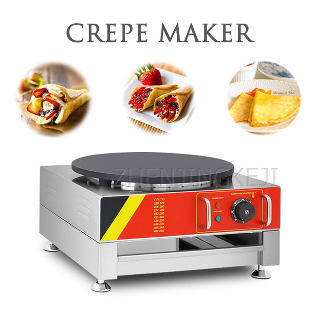 Electro Thermal Crepe Machine 3KW Small Desktop Commercial Pancake Machine Baking Appliances 220V/110V Desserts Coffee Snack Bar
