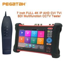 7 pulgadas 4k probador de cámara ip kamery CCTV 8MP TVI CVI SDI CVBS IP AHD de monitor de la cámara de seguridad de HDMI TDR OPM rastreador