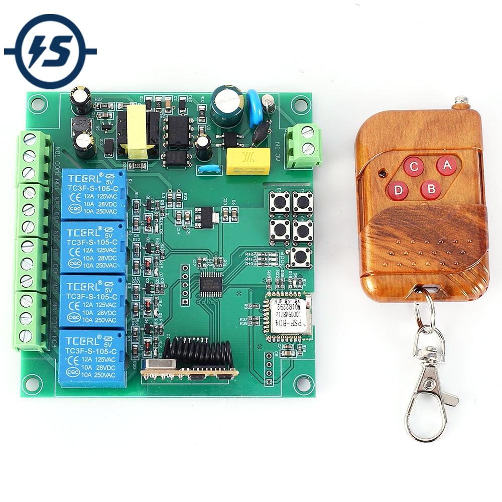 4CH 5v 12v 110v 220v Bluetooth Relay Switch Mobile Phone APP Remote Control
