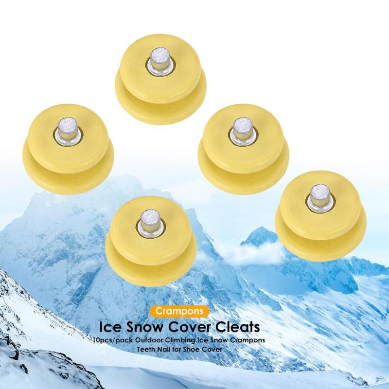 30pcs/pack Anti-slip Shoe Cover Teeth Nails Outdoor Ice Snow Crampons Spike For Mountaineering Shoe Cover Snow Claw Accessories