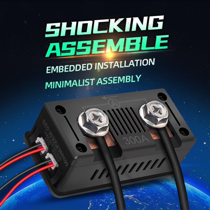 PZEM-025 Nieuwste 0-300V 100A Shunt Bulit Dc Digitale Batterij Tester Bidirectionele Ampèremeter Voltmeter Power Energy watt Meter 6