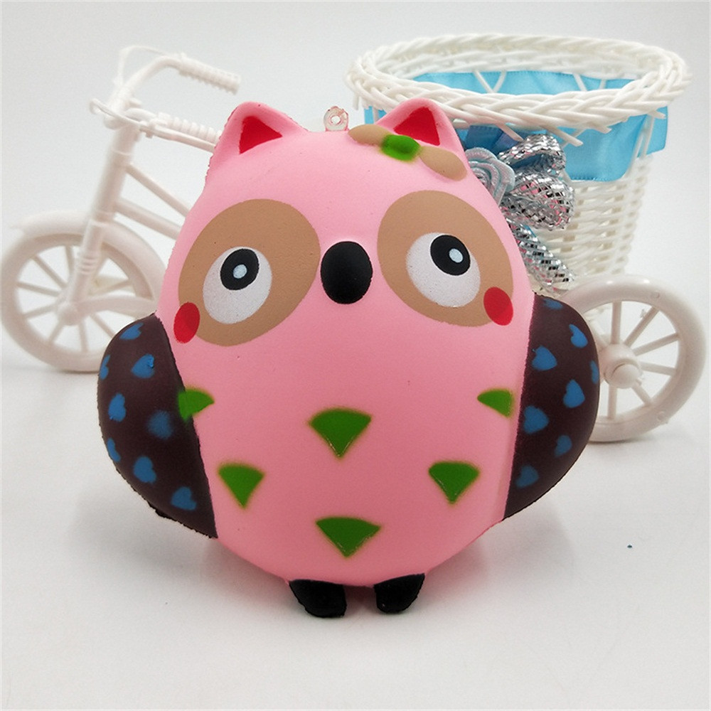 Mini Owl Squishies Charms Cute Cartoon Slow Rising Toy Smooth Mushy Animal Bird Scented Squeeze Toys Kids Xmas Gift Wholesales