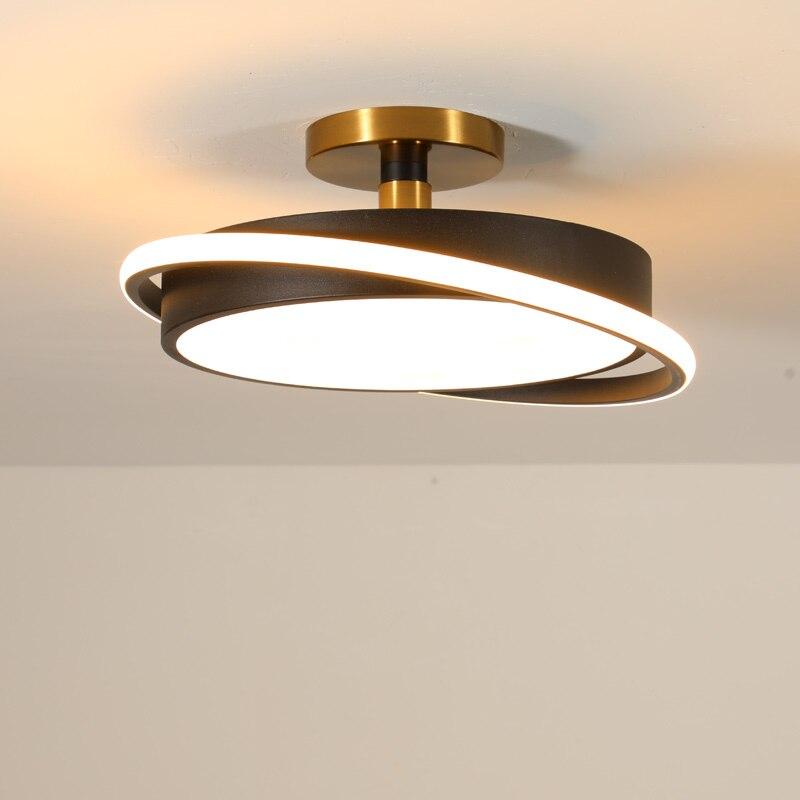 Moderne Schlafzimmer Led Lampe Fernbedienung Decken Leuchten Wohnzimmer Küche Indoor Decor Home Beleuchtung Weiß Schwarz Metall
