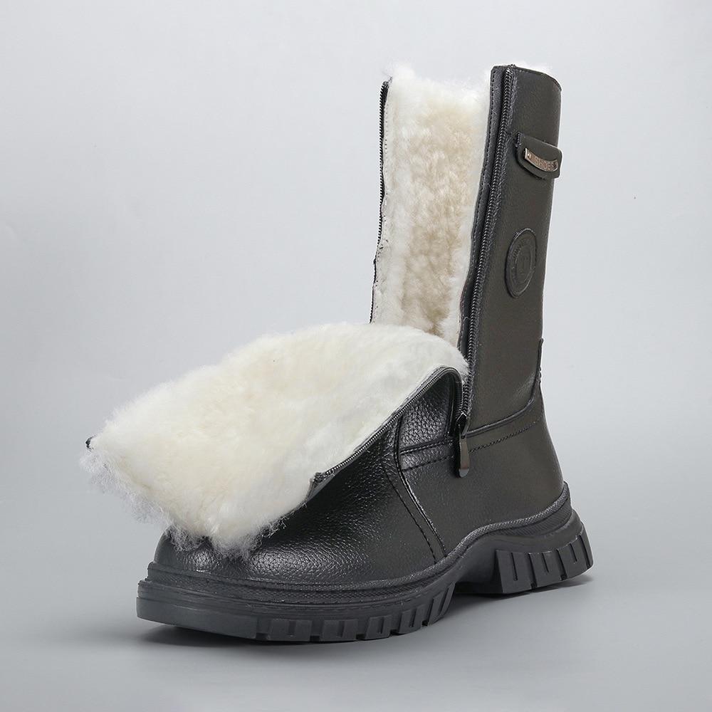 Botas de inverno dos homens de lã