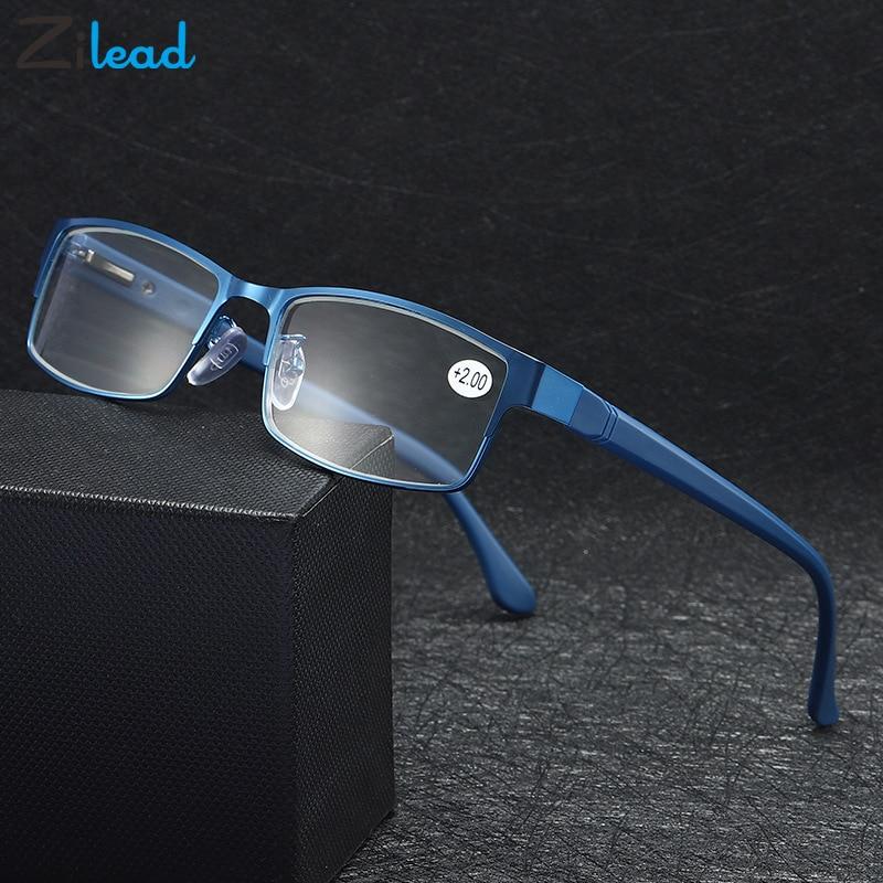 Zilead Men Spring Legs Retro Metal  Frame Presbyopic Eyeglasses Anti Fatigue For Parents Unbreakable Classical Reading Glasses