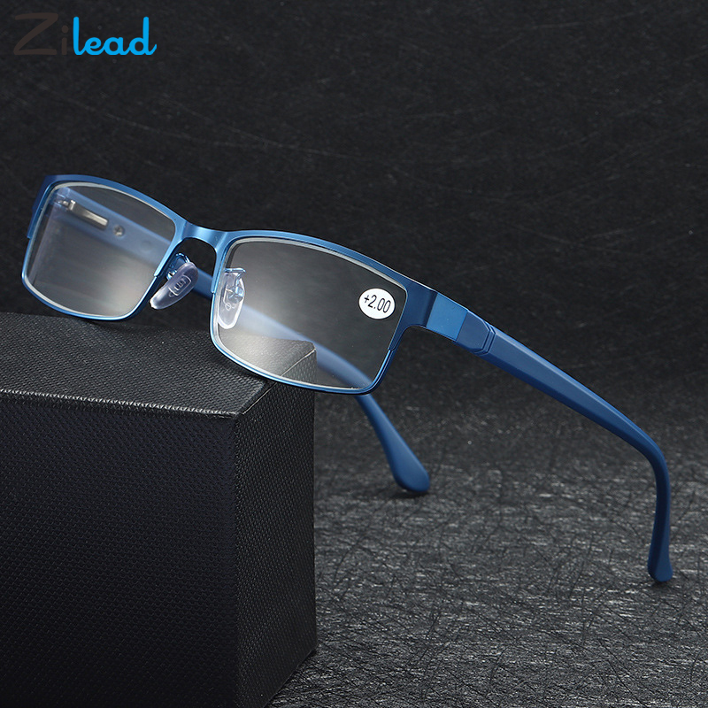 Zilead Men Spring legs Retro Metal Frame Presbyopic Eyeglasses Anti Fatigue For Parents Unbreakable Classical Reading Glasses