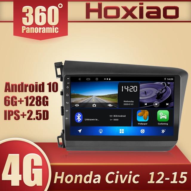 HONDA CIVIC 2012 2013 2014 2015 2din Android 10.0 araba radyo Video oynatıcı GPS navigasyon 360 panoramik sunroof DSP IPS RDS