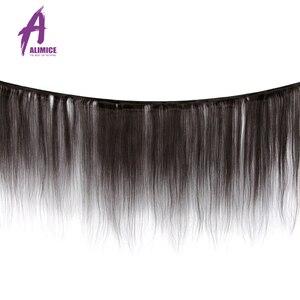 Image 2 - 8 30 Cal zestawy brazylijski pasma prostych włosów ludzkie włosy splot wiązki 3/4 sztuk Alimice długie przedłużanie włosów Remy wiązki