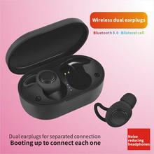 Tws bluetooth 5.0 fone de ouvido sem fio de energia no ouvido mini fones alta fidelidade 5d estéreo esporte ip5 à prova dheadágua headfree