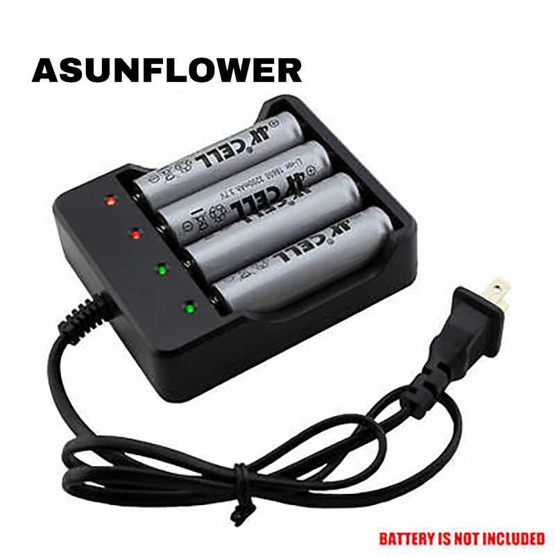 4.2V 1200MA 4 Slot Smart Charger dengan LED Indikator untuk 18650 Baterai Isi Ulang Li-ion Charger Portable Power adaptor