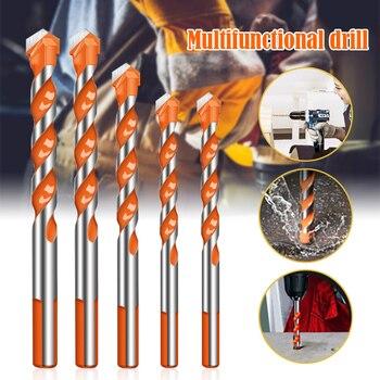 Newly Ultimate Drill Bits Twist Drill Head Wall Ceramic Glass Punching Hole Working Set