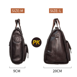 Image 4 - Men Leather Black Briefcase Business Handbag Messenger Bags Male Vintage Shoulder Bag Mens Large Laptop Travel Bags Hot XA177ZC