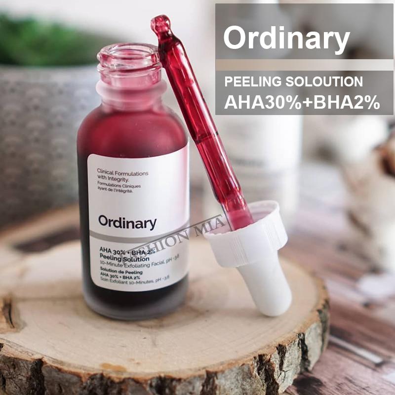 Exfoliating Face 30ML The Ordinary Skincare AHA 30% + BHA 2% Peeling Solution Facial Serum Remove Acne Whitening Skin Care Serum