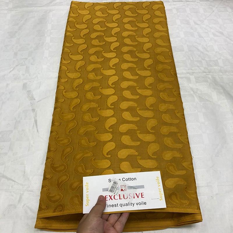 2019 tela de encaje francés dorado de alta calidad tela de brocado de Guinea africana para hombres y mujeres 5 yds/lote de algodón algodón de gasa suizo Tissu-in encaje from Hogar y Mascotas    1