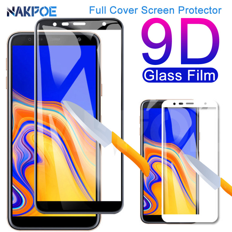 9D Full Cover Tempered Glass On For Samsung Galaxy J3 J5 J7 2016 2017 Screen Protector J2 J4 J6 J8 2018 Safety Protective Film