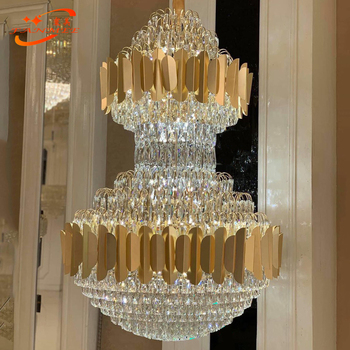 цена Stainless Crystal Chandelier Luxury Crystal Chandeliers Lighting Gold Chandelier Hanging Light for Restaurant Hotel онлайн в 2017 году