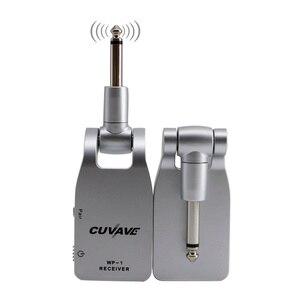 Image 3 - 2.4G kablosuz gitar sistemi 30M iletim aralığı şarj edilebilir verici ve alıcı gitar bas için siyah/gümüş renk