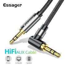 Essager – câble auxiliaire Jack 3.5mm, pour haut-parleur, casque, voiture, adaptateur Hifi, pour ordinateur portable Xiaomi mi