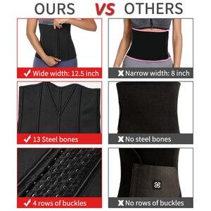 Image 4 - ネオプレン汗ウエストトレーナーコルセットトリマーベルト女性のための減量ウエストニッパーシェイパースリムボディ胃シェイパー