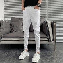 Hot Sale Summer Men Harem Pants Fashion 2021 Slim Fit Hip Hop Casual Pants Men All Match Streetwear Joggers Men Clothing 36-27