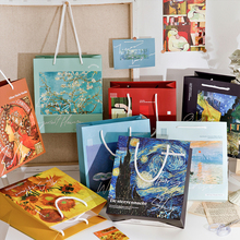 Bag Isn-Style Girls And Storage-Bag Van Gogh Monet Art Gift Starry Sky Muxia Holiday