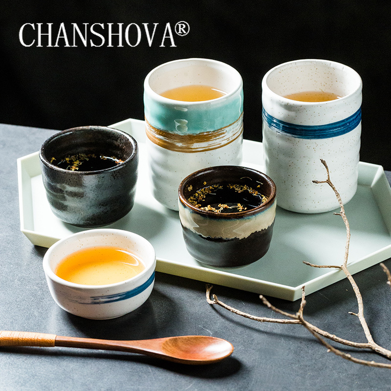 CHANSHOVA  120/300ml Traditional chinese retro style Personality brief Ceramic teacup China porcelain coffee cups mug H307