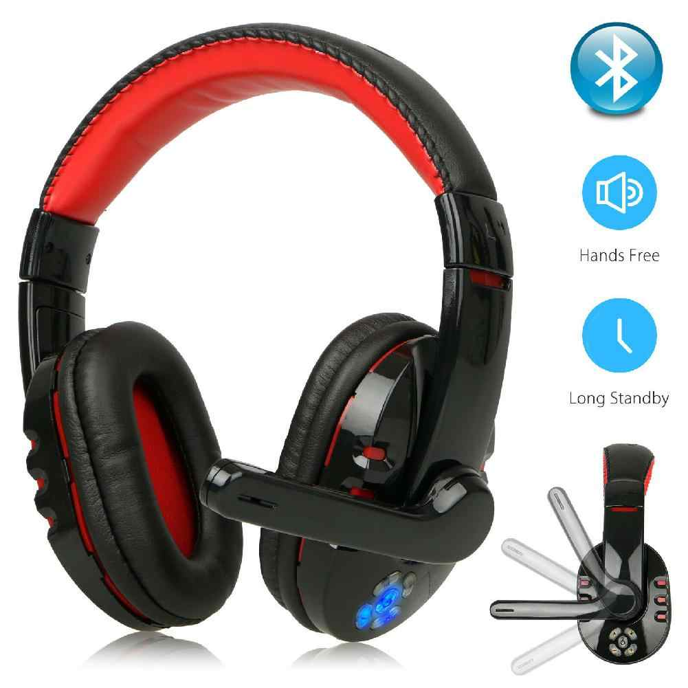 Studyset Nirkabel Bluetooth Gaming Headset untuk Xbox PC PS4 dengan MIC LED Kontrol Volume