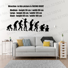 Evolution Vinyl Wall Decal Wall Stickers Home Decor Art Mural Modern Design Wall Sticker PW452 yoyoyu wall decal quotes the kitchen is where the heart is vinyl wall stickers modern design fashion home decor interior diycy74