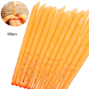 Image 4 - 10 200pcs Ear Candle Wax Removal Tool Ear Cleaner Ear Candle Beeswax Good Product Hopi Ear Wax Indian Coning Fragrance Cleaning